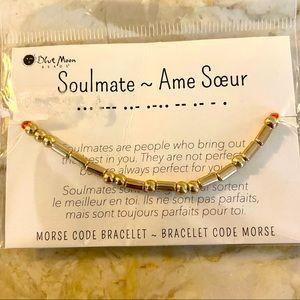 BNWT Soulmate Morse Code Beads & String Bracelet